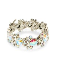 Cara | Metallic Floral Clusters Stretch Bracelet | Lyst
