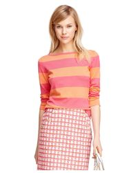 Brooks Brothers - Pink Three-quarter Sleeve Silk Blend Sweater - Lyst