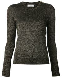Equipment - Black Glitter Fitted Sweater - Lyst