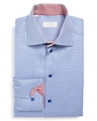 Eton of Sweden - Blue Contemporary Fit Houndstooth Dress Shirt for Men - Lyst