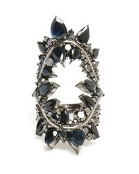 Fernando Jorge - Gray 18k Oxidised Gold and Black Diamond Ring - Lyst