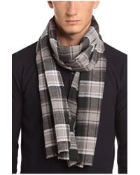 BOSS Orange - Black Cotton-flannel Scarf 'nover' for Men - Lyst