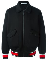 Givenchy - Black Striped Edge Bomber Jacket for Men - Lyst