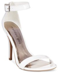 Madden Girl - White Dafney Two-piece Dress Sandals - Lyst