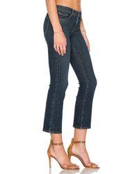 J Brand - Blue Selena Mid Rise Skinny Crop Bootcut - Lyst