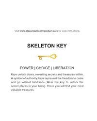 ALEX AND ANI   Metallic Precious Metals Symbolic Skeleton Key Earrings   Lyst