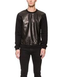 BLK DNM - Black Leather Sweatshirt 20 for Men - Lyst