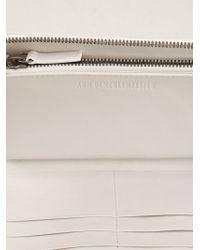 Ann Demeulemeester - White Zip Around Wallet - Lyst