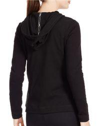 Lauren by Ralph Lauren | Black Quilted Half-zip Hoodie | Lyst