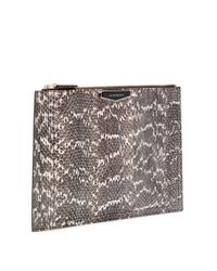 Givenchy | Brown Antigona Snakeskin Clutch | Lyst