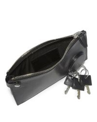 Alexander Wang - Black Runway Leather Key Clutch - Lyst