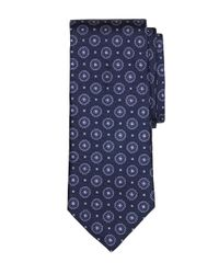 Brooks Brothers - Blue Spaced Medallion Tie for Men - Lyst
