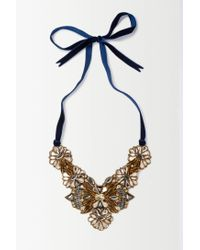 Anthropologie | Metallic Lantana Necklace | Lyst