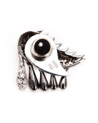 Ileana Makri | Metallic 18kt White Gold 'crying Eye' Earring | Lyst
