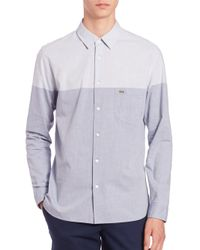 Lacoste - Blue Colorblocked Sportshirt for Men - Lyst