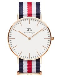 Daniel Wellington - Blue Classic Canterbury Watch - Lyst