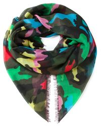 Valentino | Green Printed Scarf | Lyst