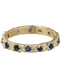 Ruth Tomlinson | Blue Gold Sapphire Eternity Ring | Lyst
