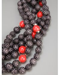 Antonella Filippini - Gray Beaded Necklace - Lyst