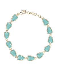 Kendra Scott | Blue Susanna Link Bracelet | Lyst