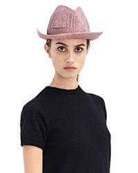 Reinhard Plank - Pink New Season - Womens Cobo Straw Hat - Lyst
