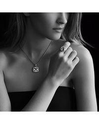 David Yurman | Pink Albion Pendant With Diamonds In Rose Gold, 14Mm Gemstone | Lyst