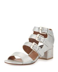 Laurence Dacade - Metallic Klio Leather Sandals - Lyst