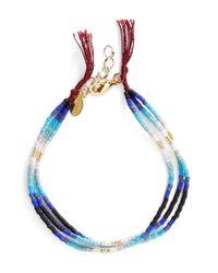 Shashi | Blue Ombre Bead Bracelet - Navy | Lyst