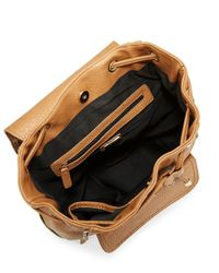 Kensie - Natural Zip-accent Faux Leather Backpack - Lyst