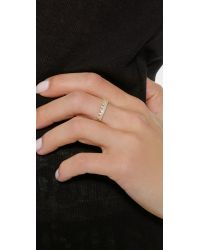 EF Collection - Metallic Diamond Crown Ring - Lyst