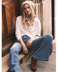 Free People - White We The Free Frontier Henley - Lyst