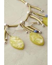 Anthropologie - Yellow Lemon Gloss Necklace - Lyst