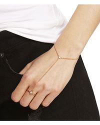 Express - Metallic Rhinestone Hand Chain - Lyst