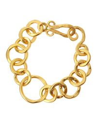 Stephanie Kantis | Metallic Coronation 24k Gold Plate Large Bracelet | Lyst