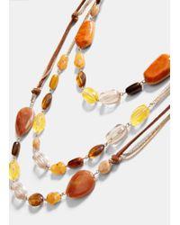 Violeta by Mango - Multicolor Mixed Bead Necklace - Lyst