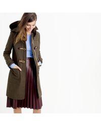 J.Crew - Brown Petite Wool Melton Toggle Coat - Lyst
