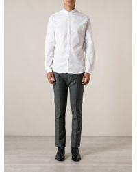 Valentino - White Small Collar Shirt for Men - Lyst