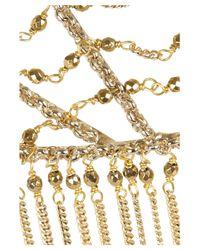 Rosantica - Metallic Millefili Gold Dipped Chain Headpiece - Lyst