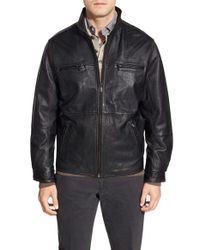 Tommy Bahama | Black 'sunrise Rider' Island Modern Fit Leather Jacket for Men | Lyst