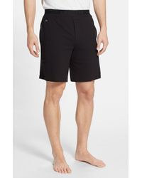 Lacoste | Black Pique Lounge Shorts for Men | Lyst