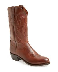 Lucchese - Brown 'ranch Hand' Cowboy Boot for Men - Lyst