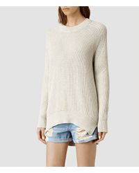 AllSaints | Natural Quinta Cotton Sweater | Lyst