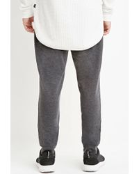 Forever 21 | Gray Drawstring French Terry Joggers for Men | Lyst