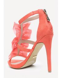 Bebe   Pink Gladyssa Chiffon Sandals   Lyst