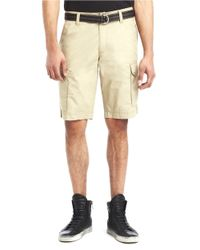 Kenneth Cole | Natural Hemmed Cargo Shorts for Men | Lyst