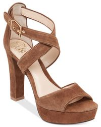 Vince Camuto | Brown Shayla Platform Sandals | Lyst