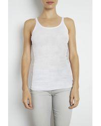 INHABIT | White Luxe Cotton Rib Tank | Lyst