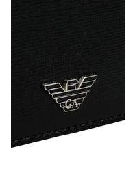 42eec5f57d Emporio Armani Credit Card Holder In Saffiano Calfskin in Black for ...