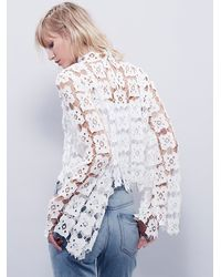Free People - White Forever And Ever Lace Top - Lyst