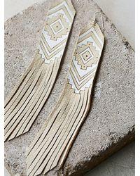 Free People - Metallic Earth Ceremony Earrings - Lyst